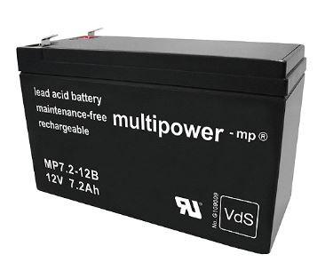 Multipower MP7,2-12B/12V 7,2 Ah lood batterij met VdS goedkeuring