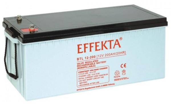 EFFEKTA BTL 12-200 12V 200 Ah loodaccu/lood non spillable accu AGM VRLA