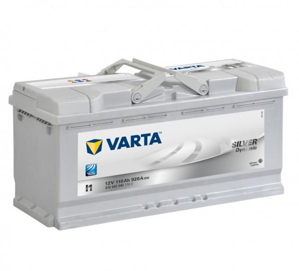 VARTA SILVER Dynamic 610 402 092 3162 I1 12Volt 110 Ah 920A/EN start accu