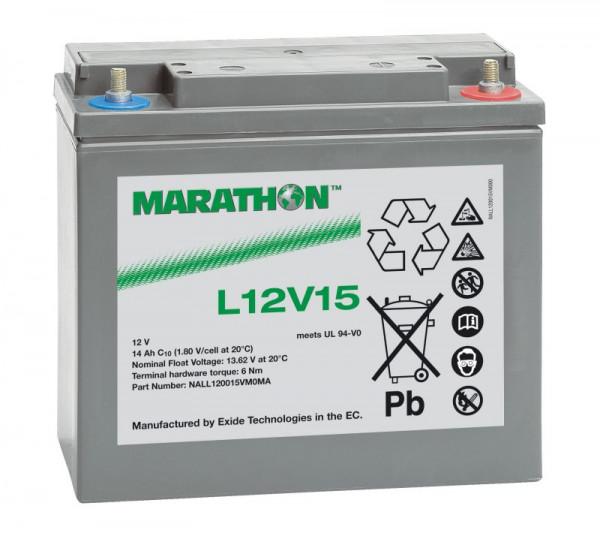 Exide Marathon UL12V15 12V 14 Ah AGM loodaccu VRLA
