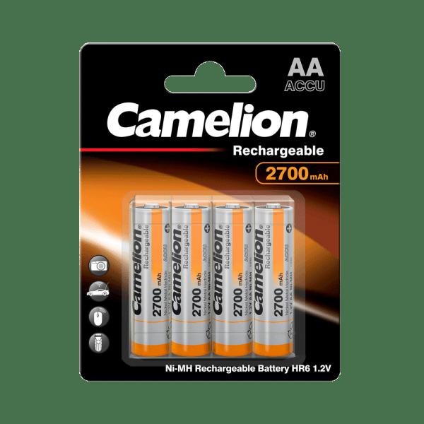 Camelion batterij Mignon AA 2700mAh NiMH + doos (4 blister)