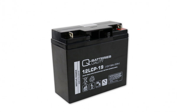 Q-Batteries 12LCP-19/12V – 19 Ah lood accu cyclus type AGM – Deep Cycle VRLA