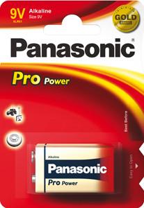 Panasonic Pro Power 6LR61 9V blok Alkaline batterij (1 Blister)