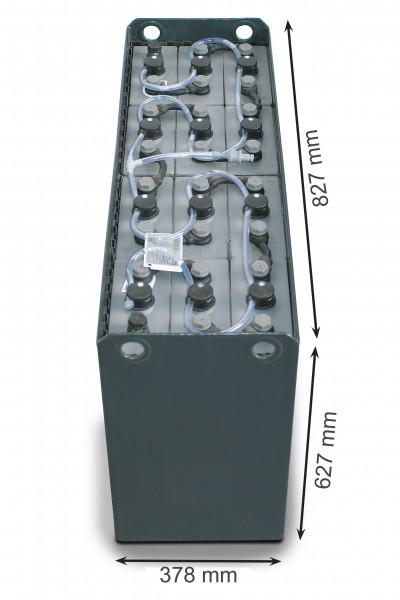 Q-Batteries 24V vorkheftruck accu 6 PzS 690 Ah DIN A (827 * 378 * 627 mm L/B/H) caja de acero 570140