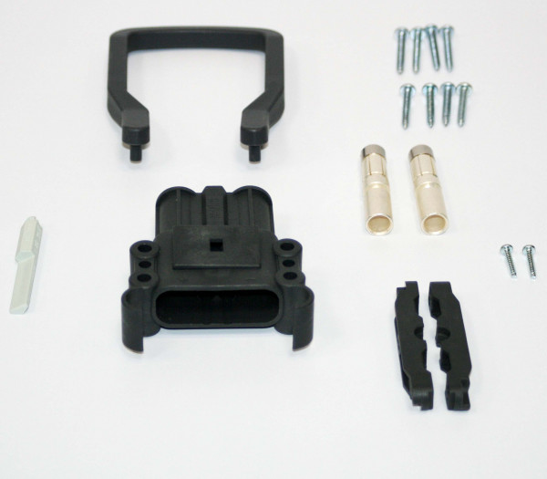 REMA kan Euro Din 160A koppeling 70 mm² (handgreep, codering pin grijs, hoofdcontact, stamverlichtin