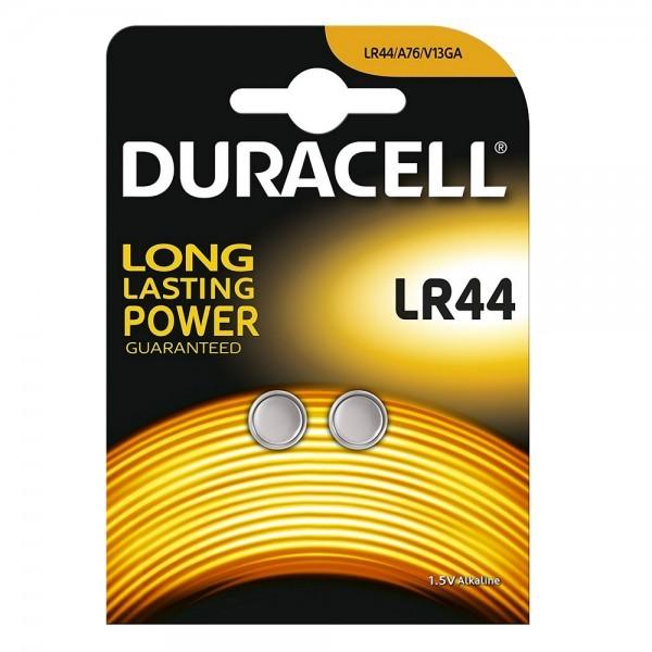 Duracell V13GA LR44 Knopcel 1.5 V Alkaline 125mAh (2 Blister)
