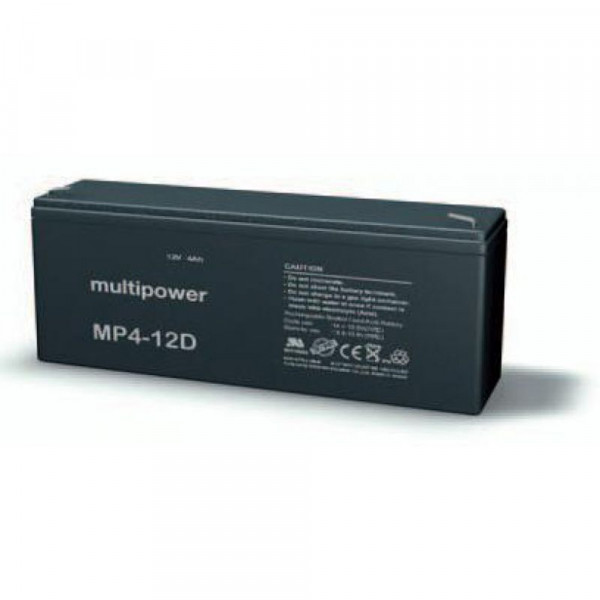 Multipower MP4-12D/12V 4 Ah lood batterij AGM