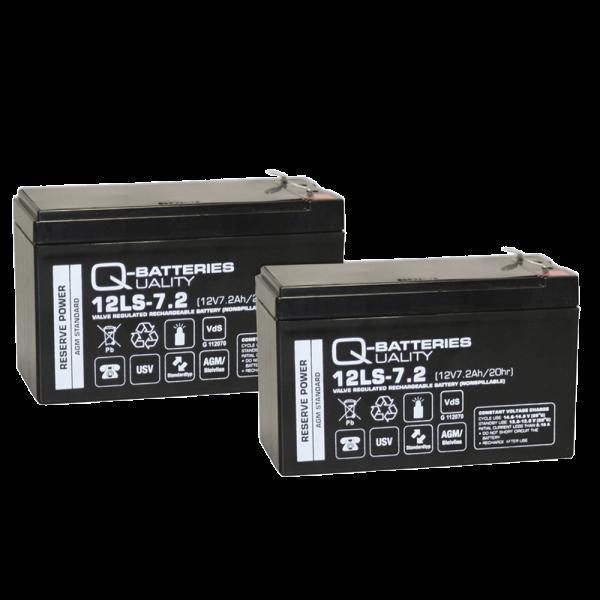 Vervangingsbatterij voor APC Smart-UPS 750/Pro 900 RBC123/brandbatterij met VdS