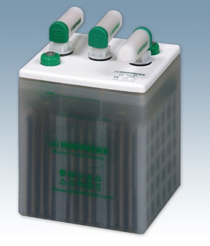Hoppecke grid | power VH 6-130 OGi blok 6V 130/6V 174 Ah (C10) gesloten lood – Blokbatterij met vloe