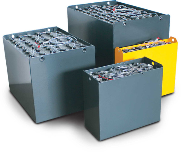 Q-Batteries 24V vorkheftruck accu 3 PZV 330 Ah DIN B (621 * 281 * 627 mm L/B/H) caja de acero 570140