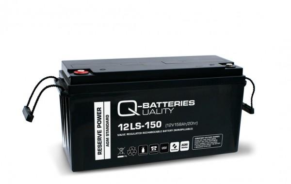 Q-Batteries 12LS-150/12V – 158 Ah loodaccu Standaard type AGM VRLA 10 jaar type
