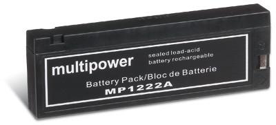Multipower MP1222A clip aansluiting/12V 2 Ah lood batterij