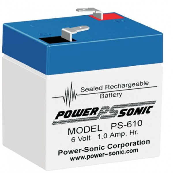 Powersonic 6V 1,0 Ah lood non spillable accu AGM PS 610