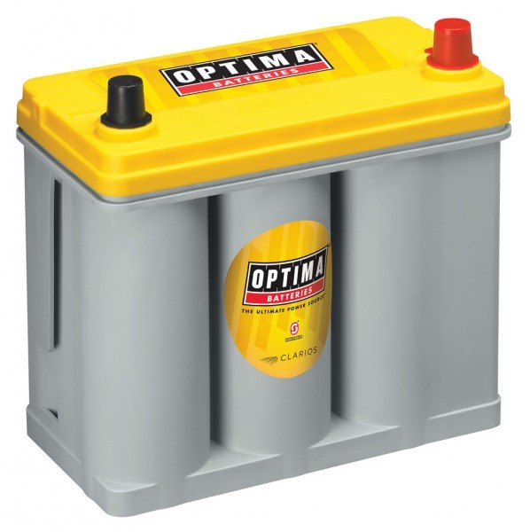 Optima Yellow Top YT R – 2.7, 12V 38 Ah, AGM cyclusbestendig, SpiralCell-technologie