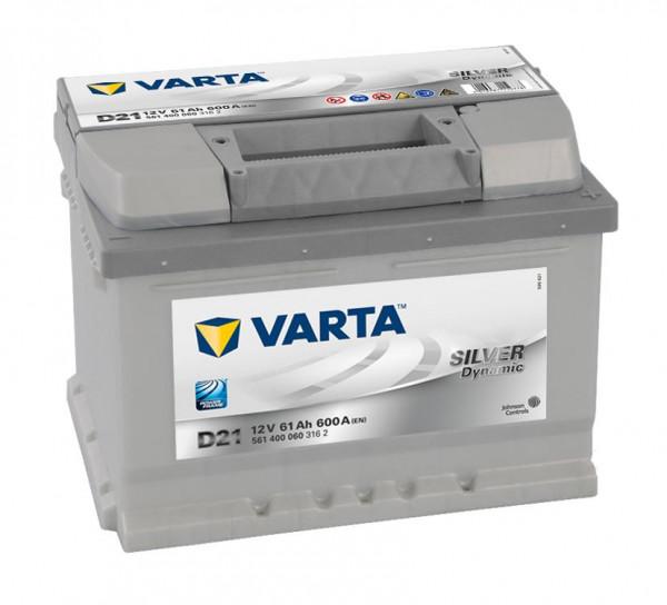 VARTA SILVER Dynamic 561 400 060 3162 D21 12Volt 61 Ah 600A/EN start accu