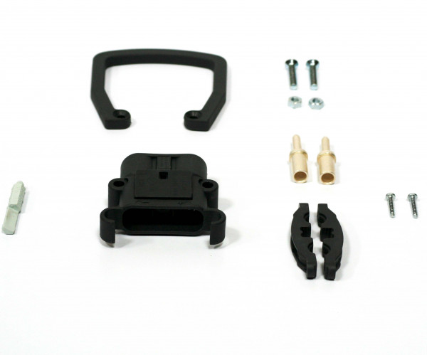REMA connector Euro Din 80A 16 mm² (handgreep, coderingspin grijs, hoofdcontact, stamverlichting)