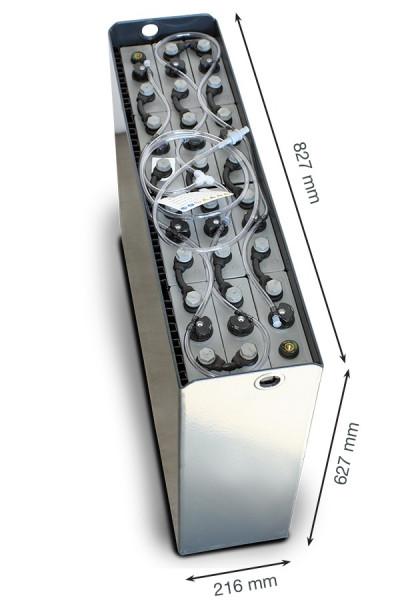 Q-Batteries 24V vorkheftruck accu 3 PzS 375 Ah DIN A (827 * 216 * 627 mm L/B/H) caja de acero 570140