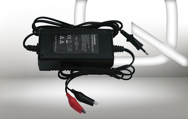 Q-Batteries BL 24-1 Charger voor loodaccus 24V – 1A Charging current IU0U Charging character