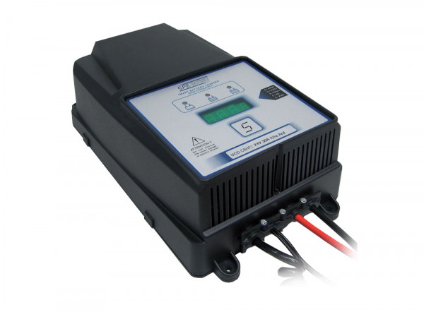 Q-Batteries energiebesparende hoogfrequente lader 48V 22A door S.P.E. Charger CBHF2-XP 36/48V los