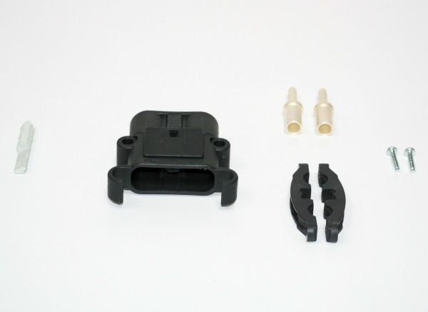 REMA connector Euro Din 80A 25 mm² (coderingspin grijs, hoofdcontact, belastingverlichting)