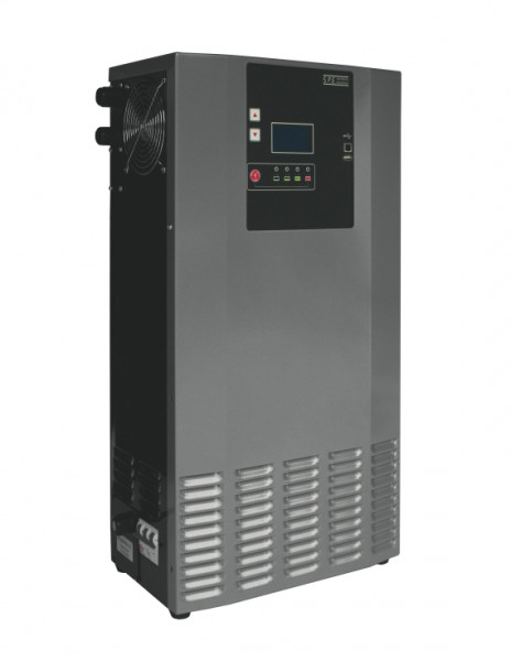 Q-Batteries energiebesparende hoogfrequente lader 48V 100A door S.P.E. Charger GREEN6 zonder connect