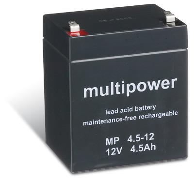 Multipower MP4,5-12/12V 4,5 Ah lood batterij AGM