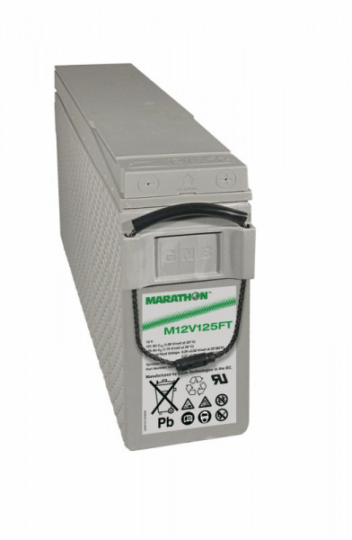 Exide Marathon M12V125FT 12V 121 Ah frontterminal AGM lood non spillable accu VRLA