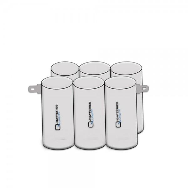 Batterij pack 7,2V 2400mAh D serie NiMH F3x2 AA cellen/Faston +6.3/-4.8 mm
