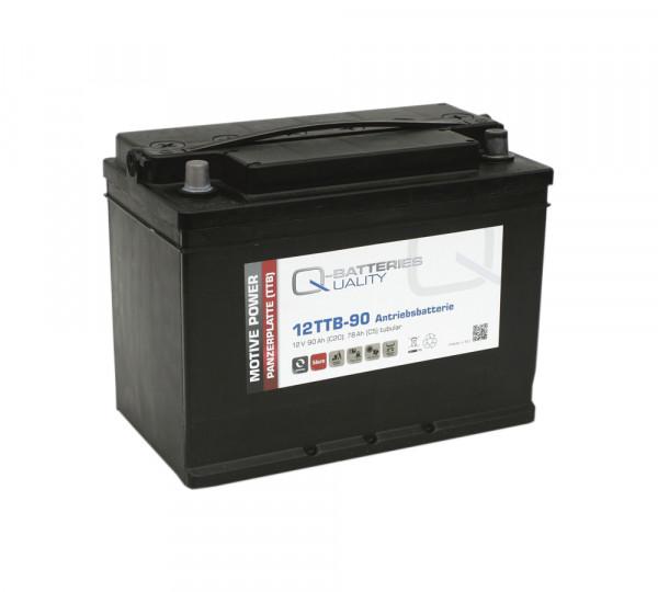 Q-Batteries 12TTB-90 12V 90 Ah (C20) gesloten blok batterij, positieve buisplaat