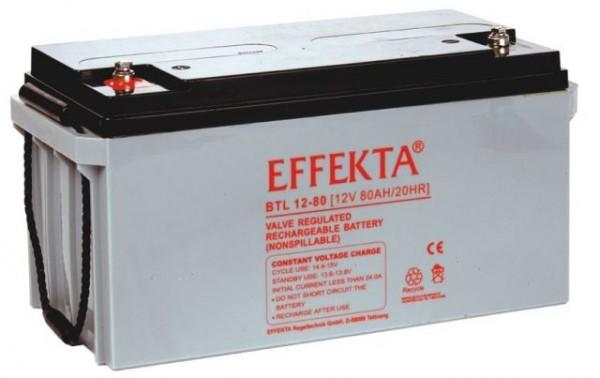EFFEKTA BTL 12-80 12V 80 Ah loodaccu/lood non spillable accu AGM VRLA