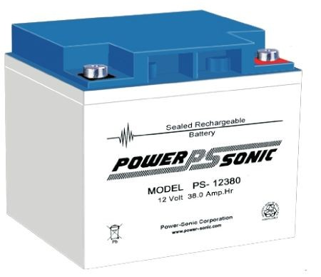 Powersonic 12V 38 Ah lood non spillable accu AGM VRLA PS 12380 VdS