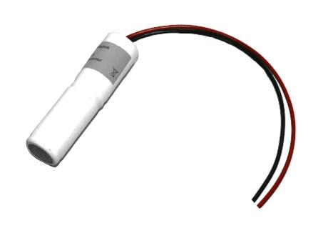 Batterij pack 2.4V 2500mAh staaf NiCd L2x1 2xC hoge temperatuur cellen/kabel