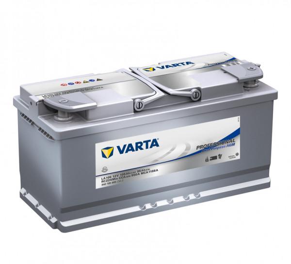 VARTA Professional DP AGM LA 105 12Volt 105 Ah 950A/EN 840 105 095