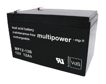 Multipower MP12-12B/12V 12 Ah loodaccu AGM met VdS goedkeuring