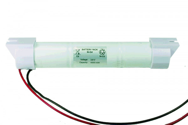 Batterij pack 3,6V 4000mAh staaf NiCd L3x1 3xD hoge temperatuur cellen/kabel en montage doppen