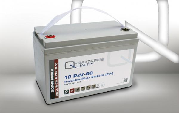 Q-Batteries 12PzV-80 Traktie Block accu 12V 80 Ah (10h) Gel Tank Plate
