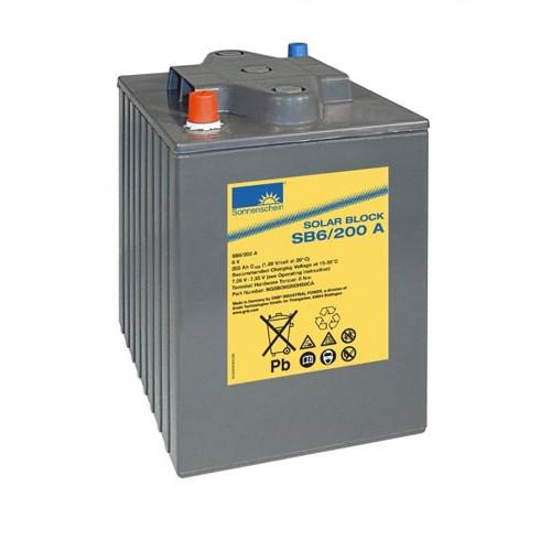 Exide Sonnenschein Solar Block SB6/200 A 6V 200 Ah (C100) dryfit loodgel accu/lood accu