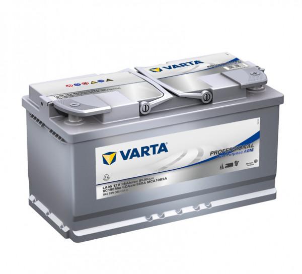 Varta LA95 Professional DP AGM accu 12V 95Ah 850A