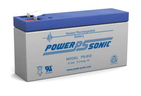 Powersonic 8V 3,2 Ah lood non spillable accu AGM PS 832