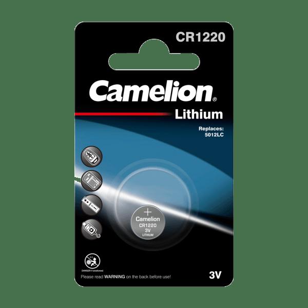 Camelion CR1220 lithiumknopcel (1 blisterverpakking) UN3090