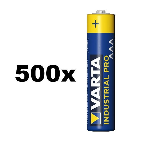 VARTA Industrial Pro Micro AAA Battery 4003 500 stuks.OEM (1 PPE)