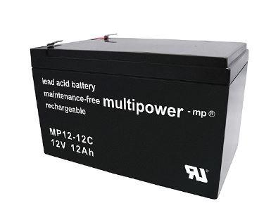 Multipower MP12-12C/12V 12 Ah lood batterij cyclus type