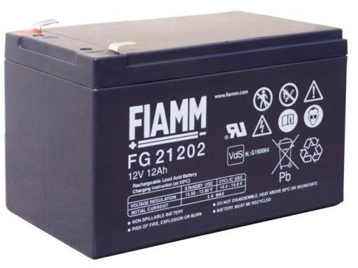 FIAMM FG21202 12V 12 Ah loodaccu/loodaccu/AGM lood non spillable VdS
