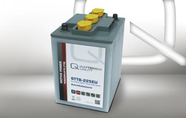 Q-Batteries 6TTB-225EU 6V 225 Ah (C20) gesloten blok batterij, positieve buisplaat