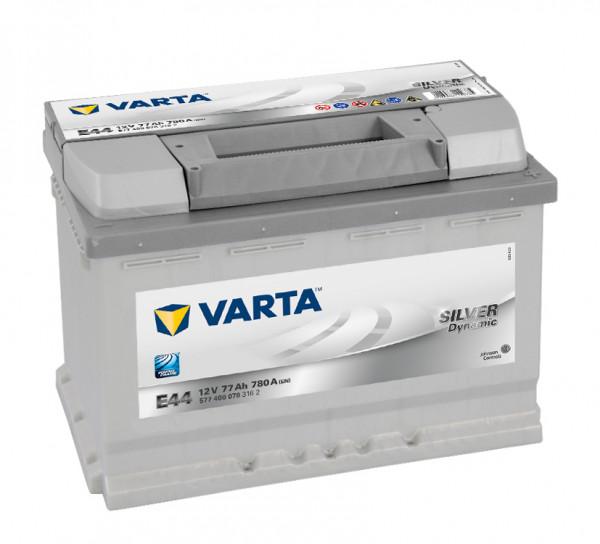 VARTA SILVER Dynamic 577 400 078 3162 E44 12Volt 77 Ah 780A/EN start accu