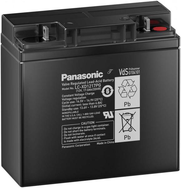 Panasonic LC-XD1217PG 12V 17 Ah lood non spillable accu AGM met VdS