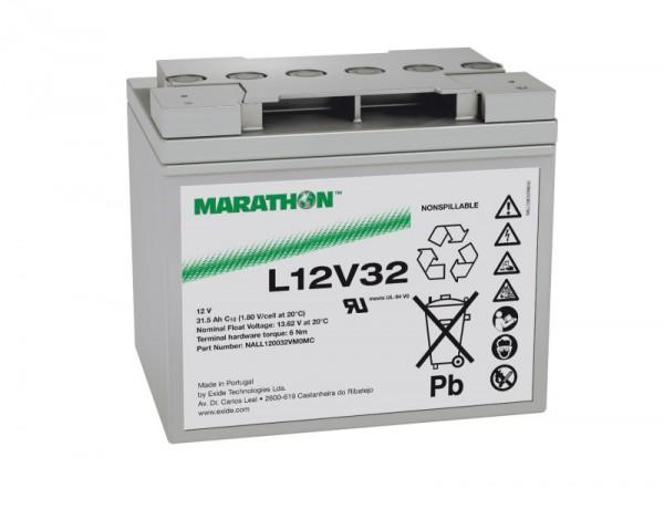 Exide Marathon UL12V32 12V 31,5 Ah AGM loodaccu VRLA